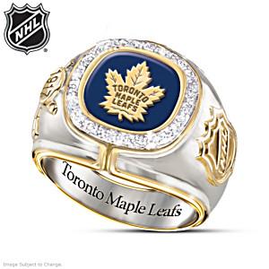 Toronto Maple Leafs® Sterling Silver Men's Diamond Ring
