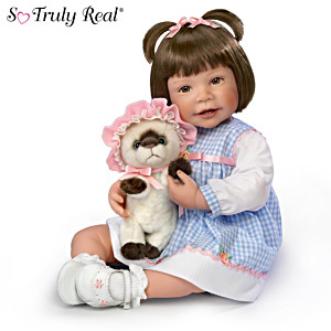 "Waltraud Hanl ""Emma And Baby Boots"" Lifelike Child Doll"