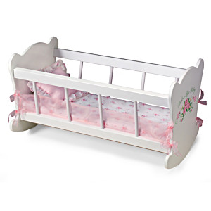 """""""Rock-A-Bye Cradle"""" Doll Accessory And Bedding For Dolls"""