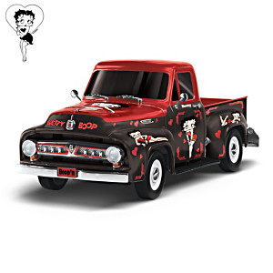 Betty Boop 1952 Ford F-100 1:36-Scale Truck Sculpture