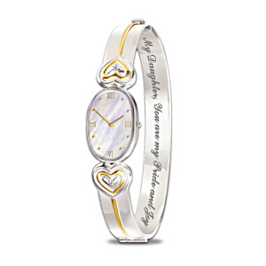 Diamond And Mother-Of-Pearl Bracelet Watch For Daughter