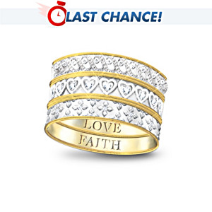 """Faith, Hope And Love"" 3-Band Diamond Ring"