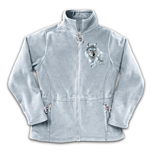"""Spirt Of The Wilderness"" Wolf Art Fleece Jacket"