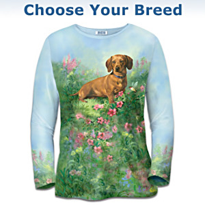 """Doggie Daydreams"" Women's Art Shirt: Choose Your Breed"
