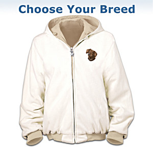 Reversible Fleece Dog Art Jacket: Choose A Dog Breed