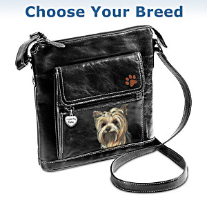 """Choose Your Breed"" Crossbody Fashion Bag With Dog Art"