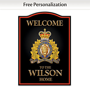 RCMP Personalized Welcome Sign: Choose Colour And Language