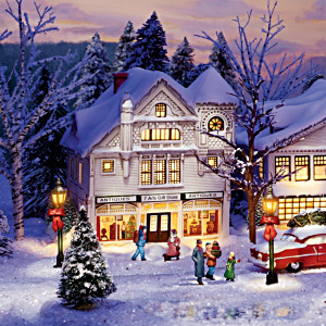 The Norman Rockwell Illuminated Christmas Village