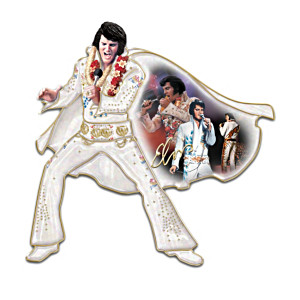 Vegas-Era Elvis Porcelain Wall Sculptures With Montage Art