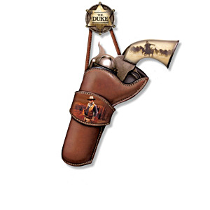 John Wayne Replica Pistol Wall Decor Art Collection