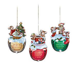 """Charming Tails """"Jingle Bells"""" Ornament Collection"""