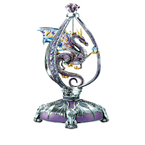 """Dragon Jewels"" Figurine Collection With Swarovski Crystals"