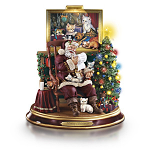 Santa With Kittens Figurine Collection