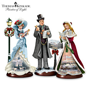 Kinkade Christmas Carolers With Recorded Human Voices