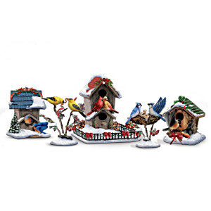 Musical Illuminated Songbirds Holiday Figurines