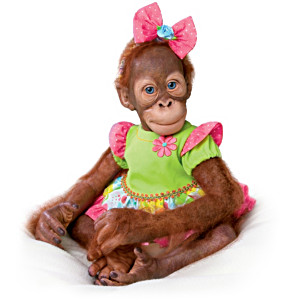"Simon Laurens ""Mollie And Ollie"" Vinyl Orangutan Dolls"