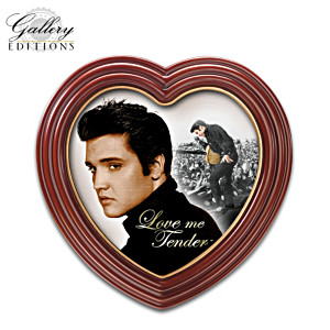 Portrait Prints Of Elvis On Canvas In Heart-Shaped Frames