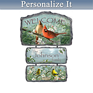 Songbird Art Seasonal Plaques With FREE Welcome Display