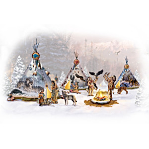 """Sacred Spirits"" Native American- Style Village Collection"