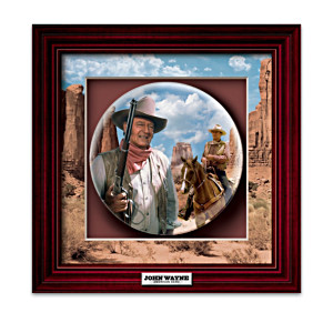John Wayne Commemorative Shadowbox Collector Plates