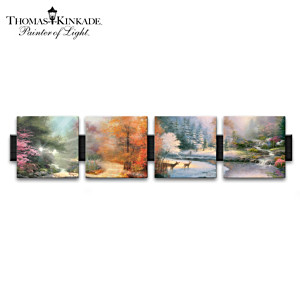 """Seasons Of Radiance"" Thomas Kinkade Porcelain Art Prints"