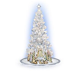 """""""Heavenly Blessings"""" Illuminated Christmas Tree And Nativity"""