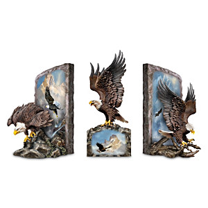 Majestic Eagle Bookend Collection With Ted Blaylock Artwork