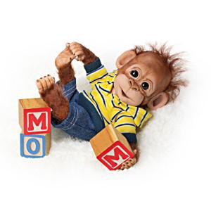 "Cindy Sales ""Happy Handfuls Of Fun"" Lifelike Baby Apes"