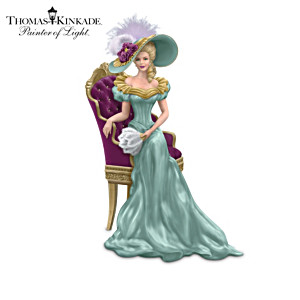 Thomas Kinkade Lady Figurines Inspired By His Manor Home Art