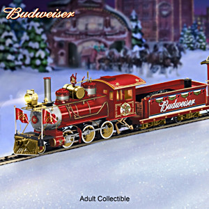 """Budweiser Holiday Express"" Illuminated Electric Train"