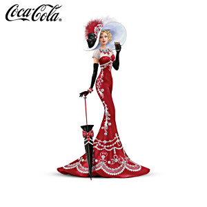 COCA-COLA Victorian Lady Figurines With Swarovski Crystals