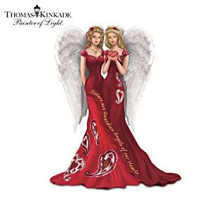 Thomas Kinkade Heart Health Awareness Sister Angel Figurines