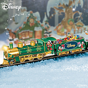 Lighted Disney Holiday Celebration Express Train Collection