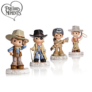 Precious Moments John Wayne Tribute Cowboy Figurines