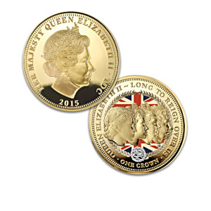 """The Crowning Moments Of Queen Elizabeth II"" Coin Collection"