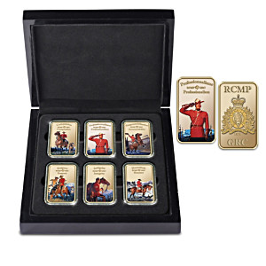 RCMP 18K Gold-Plated Ingot Collection With Display Case