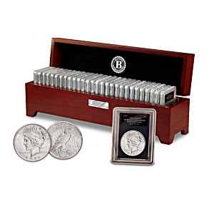 Rare Uncirculated Morgan And Peace Silver Dollar Collection